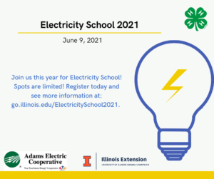 Electricity School @ Adams Electric (separate locations for each workshop)