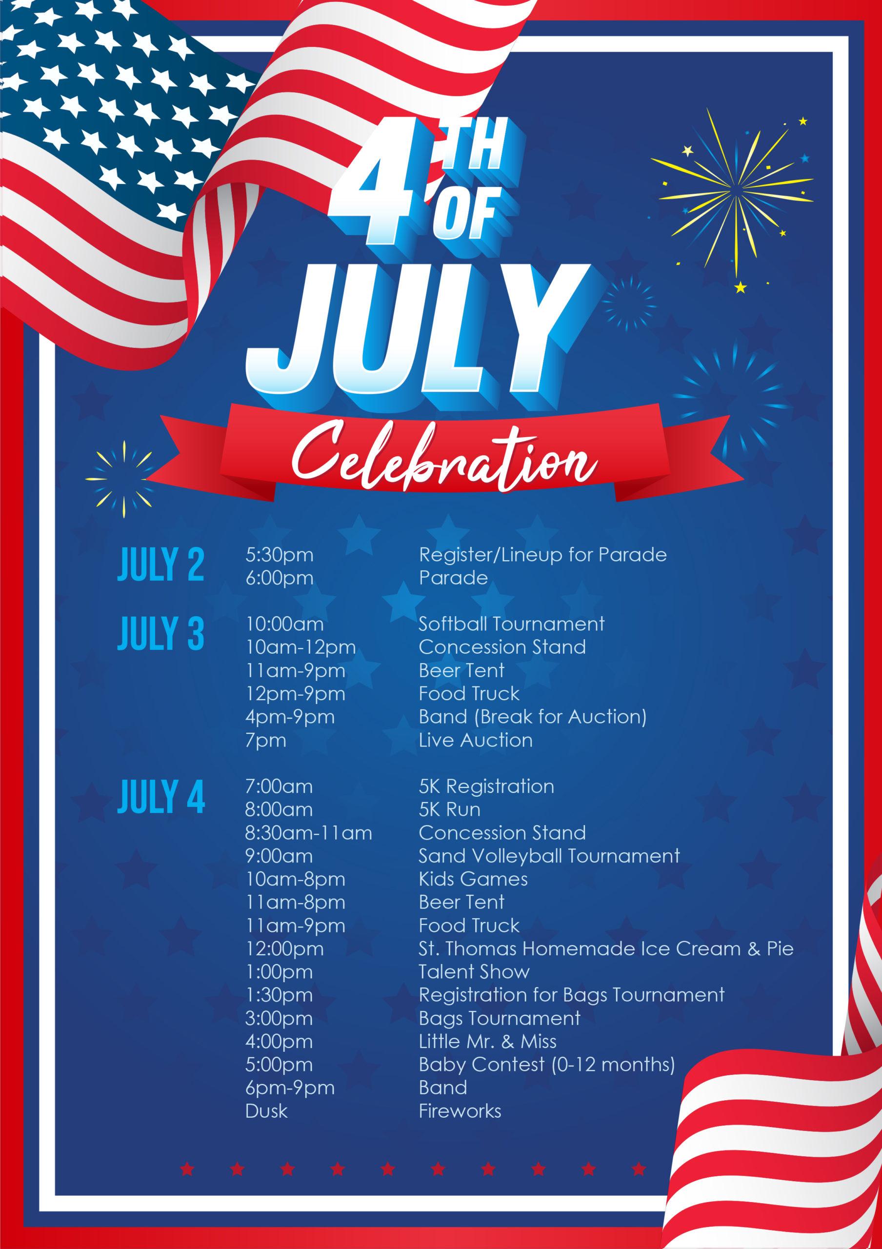 4th of July Celebration @ Bailey Park